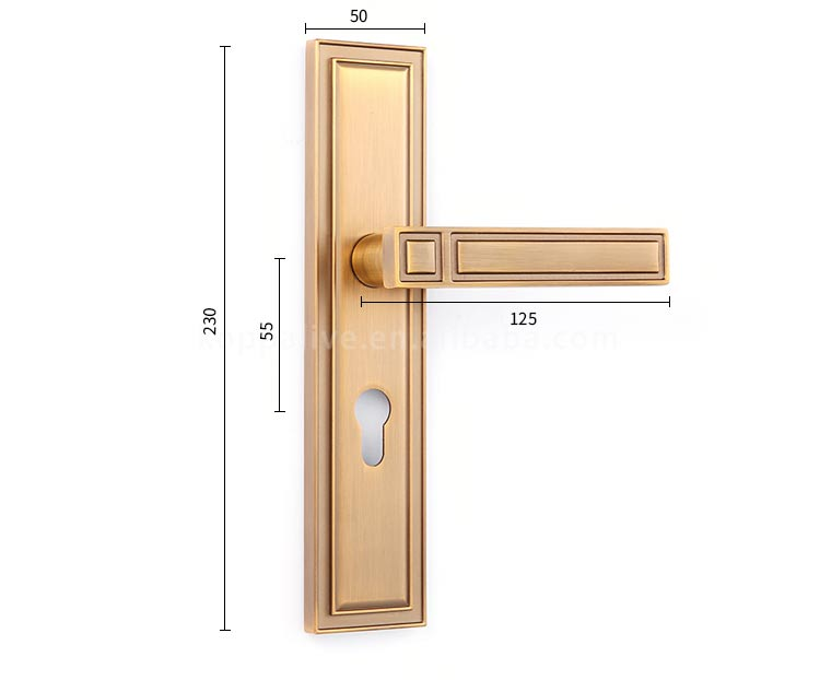 Luxury style hardware bedroom furniture safety lever door handle zinc alloy