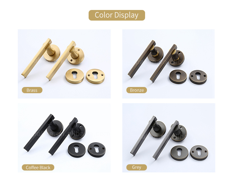 Modern home safety sliding door handle industrial brass mortise lever entrance door lock